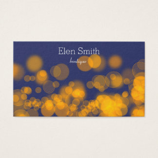 bokeh business card