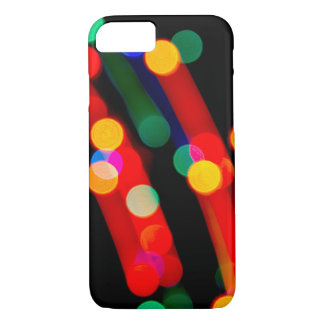 Bokeh Christmas Light Trails iPhone Case