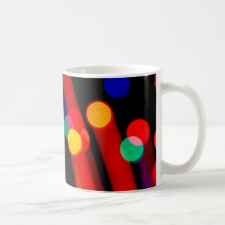 Bokeh Christmas Lights Trails Coffee Mug