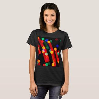 Bokeh Christmas Lights With Light Trails T-Shirt