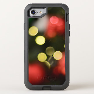 Bokeh Christmas Tree Lights OtterBox Defender iPhone 8/7 Case