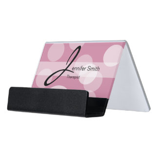 Bokeh & DIY Background Color | Personalize Desk Business Card Holder