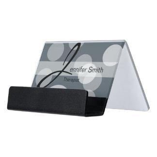 Bokeh & DIY Background Color | Personalize Desk Business Card Holder