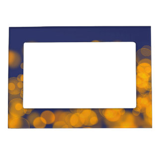 Bokeh effect texture magnetic picture frame