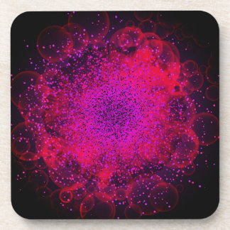 Bokeh Explosion. Сolorful Abstract Background. Drink Coasters