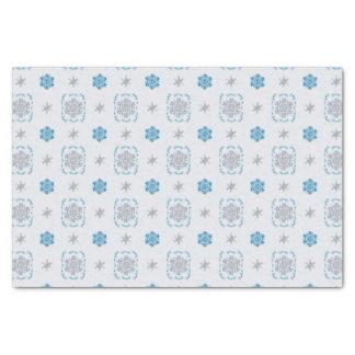 Bokeh Hanukkah Deco Snowflakes Tissue Paper