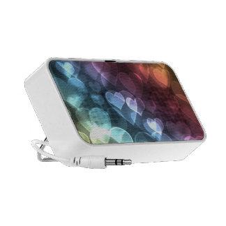 Bokeh Hearts Laptop Speaker