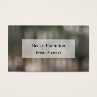 Bokeh in Photo of Leaves & Picket Fence Business Card