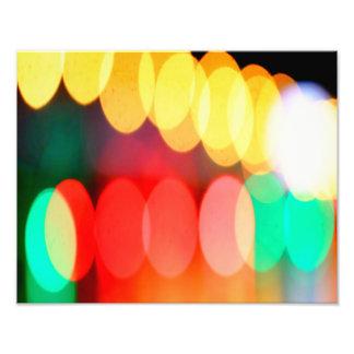 Bokeh Lights on the Bridge Photograph