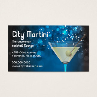 Bokeh Martini Business Card