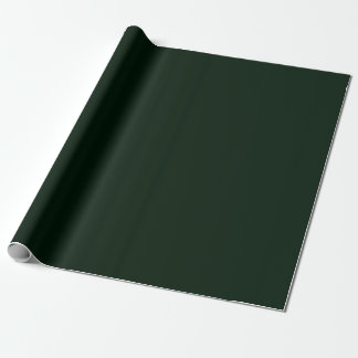 Bokeh Navidad Deep Forest Green Wrapping Paper