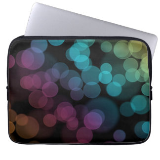 Bokeh on Black Laptop Sleeve