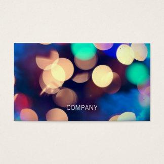 Bokeh Photo Horizontal Business Cards