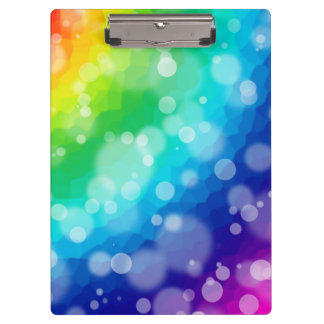 Bokeh Rainbow Clipboards