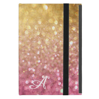 Bokeh Shimmering Glitter Look Gold Pink Sparkle Case For iPad Mini