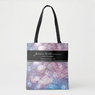 Bokeh, sparkle lights, trendy, event planner tote bag