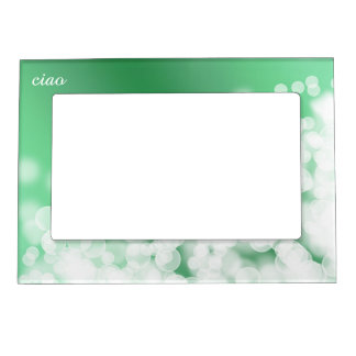 bokeh style green texture magnetic picture frame