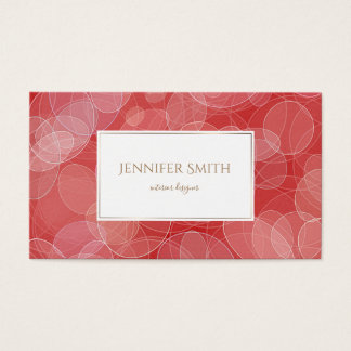 Bokeh style red gradient texture business card