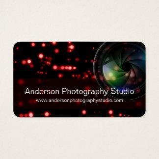 Bokeh & Zoom Lens Photographer Business Card D16