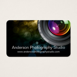 Bokeh & Zoom Lens Photographer Business Card D5