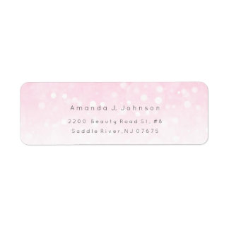 Bokhe Lights Delicate Pink Ombre Adress Return Address Label