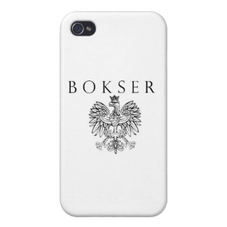 Bokser Polish Eagle Black / White Cases For iPhone 4