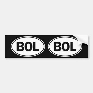 BOL Oval ID Bumper Sticker
