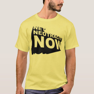 Bold 3D Net Neutrality Now T-Shirt