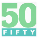 BOLD 50th FIFTY Anniversary Party Invitations