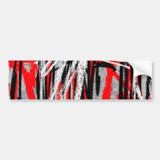 Bold Abstract Bumper Sticker