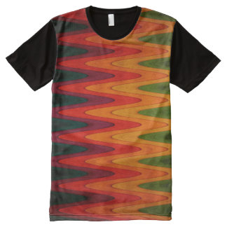 Bold Abstract Zig Zag Design on Shirt All-Over Print T-Shirt
