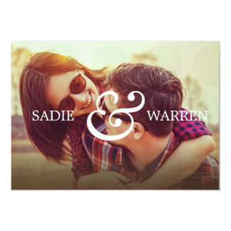 Bold Ampersand Save the Date Card