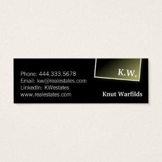 Bold and Black Mini Business Card