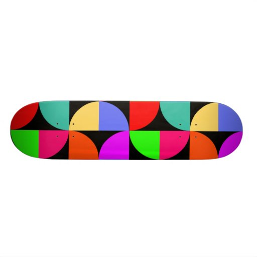 Bold and bright skate board deck