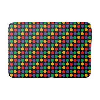 Bold And Colorful Polka Dot Pattern Bath Mats