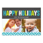 Bold and Colourful Happy Holidays Cards Custom Announcements