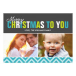 Bold and Colourful Merry Christmas Cards Announcements