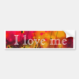 Bold and Cool Red Green Dreamy Abstract Bumper Sticker