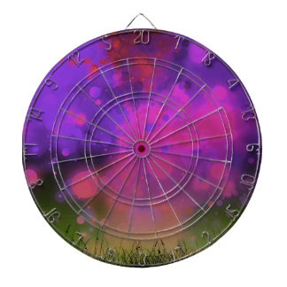 Bold and Cool Red Green Dreamy Abstract Dartboards