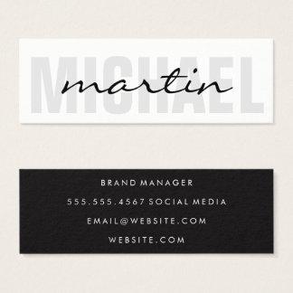 Bold and Cursive Text Mini Business Card