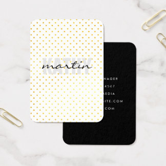 Bold and Cursive Text Polka Dots Business Card