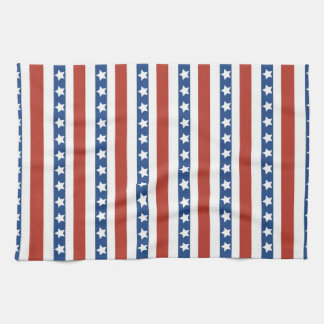 Bold and Fun 4th of July Stars and Stripes Pattern Tea Towel