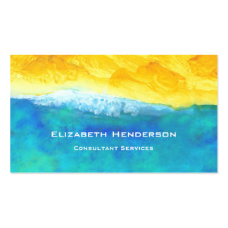 Bold and Lively Abstract Seascape Painting Pack Of Standard Business Cards