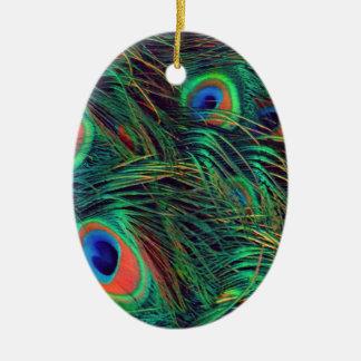 Bold and Rich Peacock Ceramic Ornament