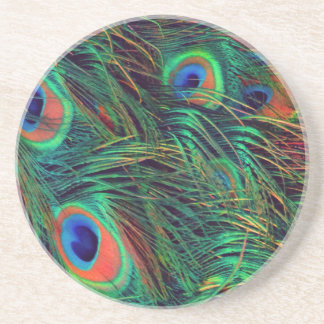 Bold and Rich Peacock Sandstone Coaster