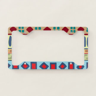 Bold Andes Tribal Pattern License Plate Frame