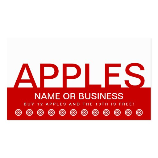 bold APPLES customer loyalty card Business Cards