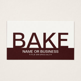 bold BAKE (color customizable) Business Card