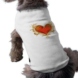 Bold Beautiful Heart Doggie Tee Shirt