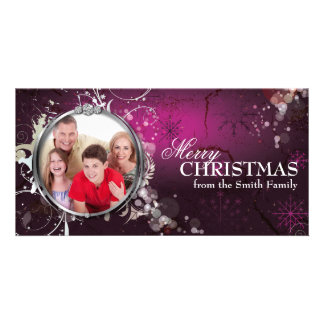 Bold Beautiful Merry Christmas Holiday Photo Card